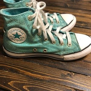 Converse High Top Mermaid Sneakers Youth Size 2